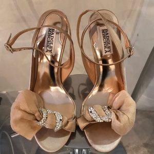 BADGLEY MISCHKA satin heels